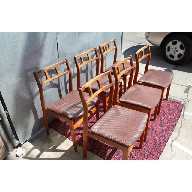 1960s d scan teak dining chairs chairish for Dscan dining room set
