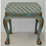 Image of 1960s Baker Furniture Upholstered Chinoiserie Seat