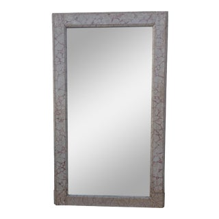 Faux Marble Painted Mirror