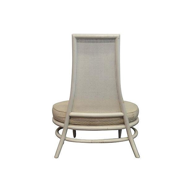 Mid-Century Hollywood Regency High Back Chair - Image 5 of 5