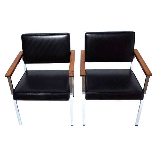 Knoll 900 executive art metal inc chairs a pair chairish - Knoll inc chairs ...