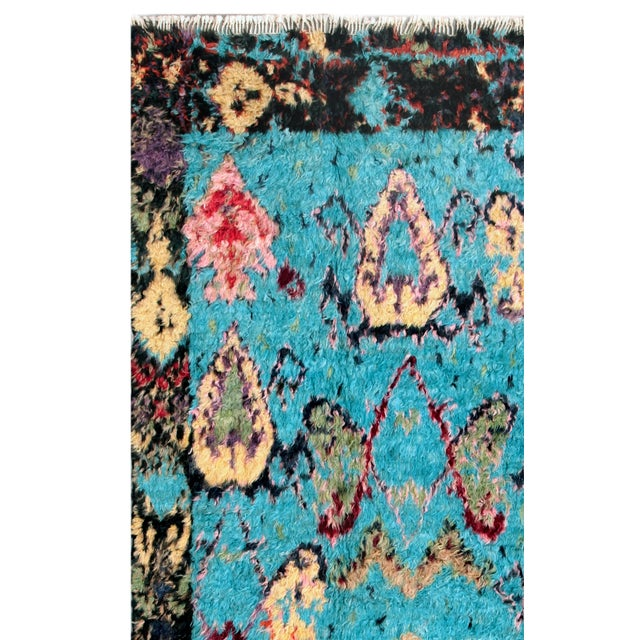 Image of Moroccan Multicolor Wool Area Rug - 6' X 10'