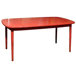 Hollywood Regency Red Lacquered Table