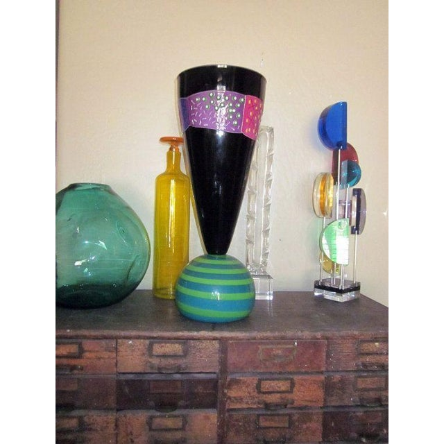 Image of Modernist Hand Blown Glass Vase