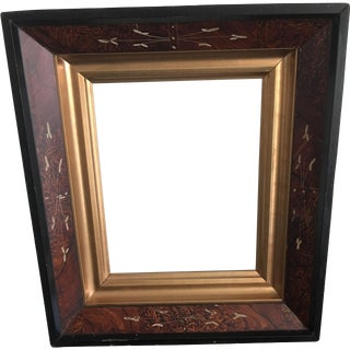 Antique American Eastlake Walnut Picture Frame