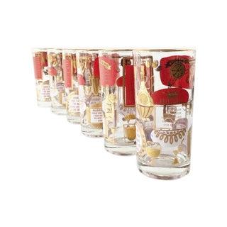 Vintage Midcentury Cocktail Glasses - Set of 6