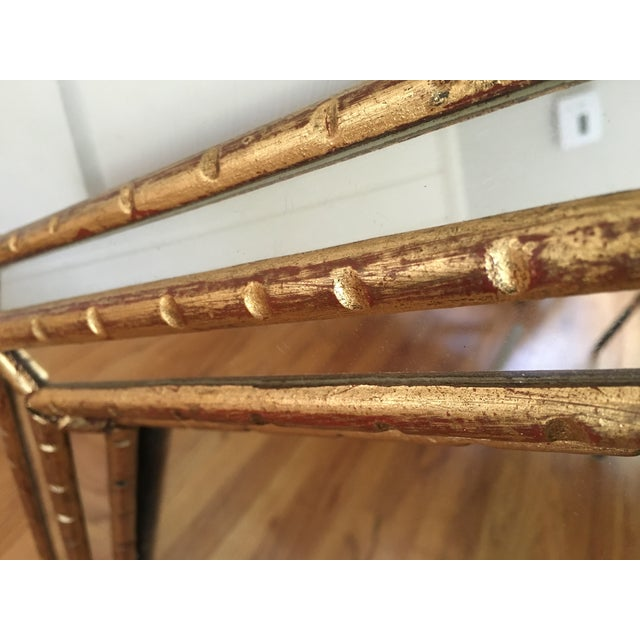 Hollywood Regency Faux Bamboo Gold Mirror - Image 7 of 11