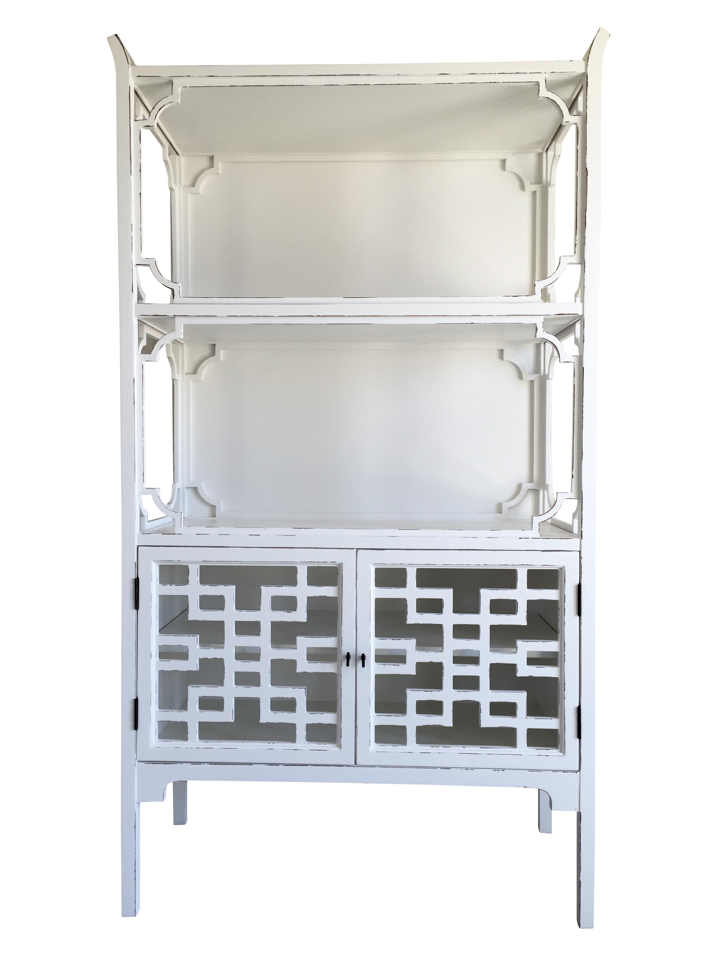Image of White Chinoiserie Bookcase