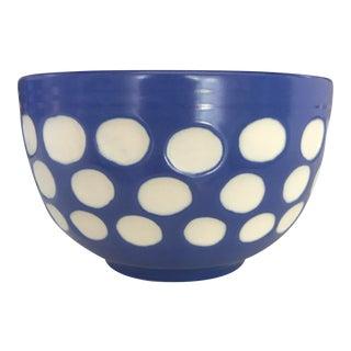 Blue Dot Cereal Bowl