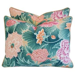 "24"" X 18"" Custom Designer Brunschwig & Fils Floral Feather/Down Pillows - Pair"