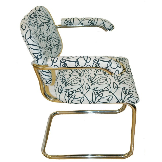 Marcel Breuer Style Mid Century Chrome Chairs - 2 - Image 2 of 3