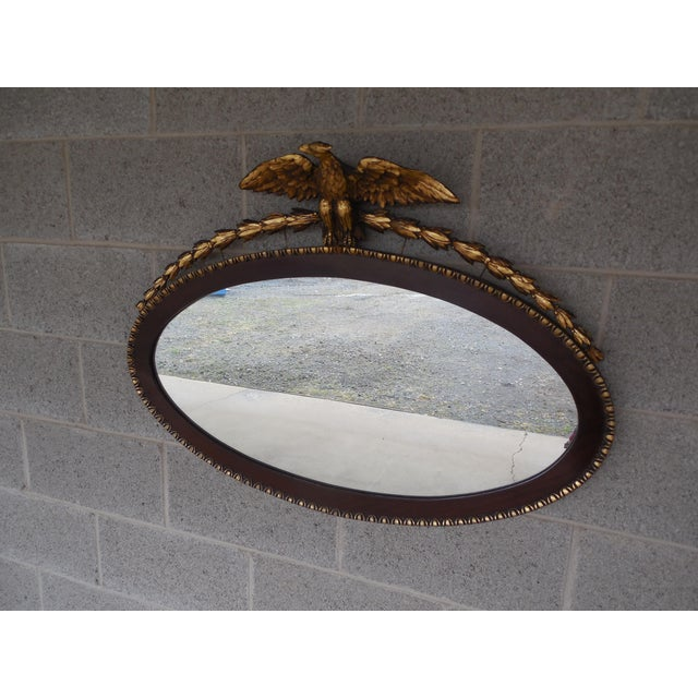 Antique Mahogany Federal Style Eagle Crested Mirror - Image 2 of 9