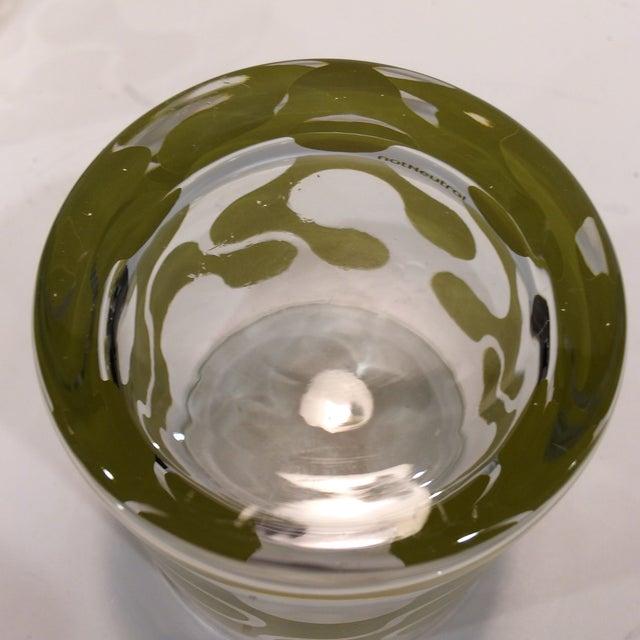 Op Art Avocado Green Lo-Ball Glasses - Set of 4 - Image 7 of 11