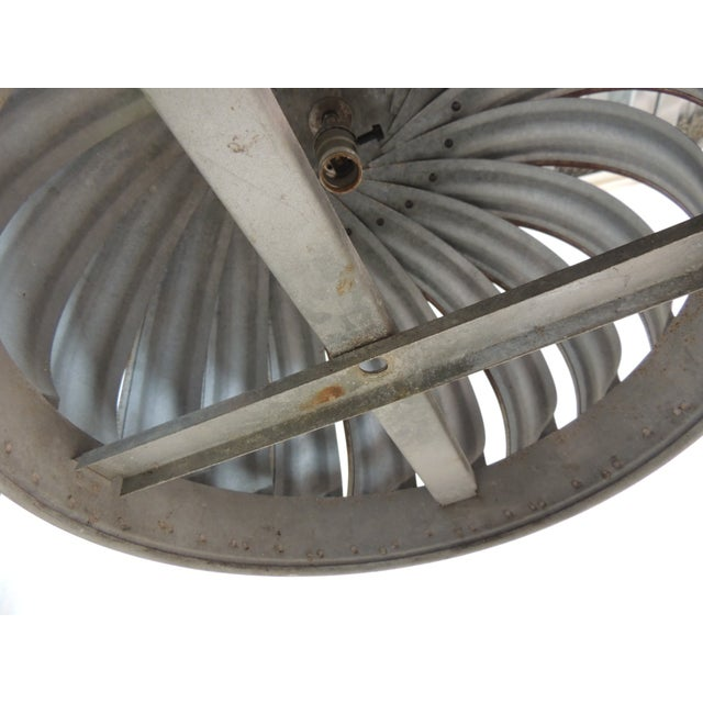 Vintage Industrial Ventilator Hanging Light - Image 6 of 6