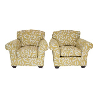 Pair of Rolled Arm Club Chairs