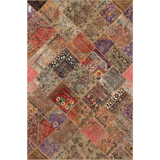 Hand-Knotted Patchwork Rug - 6'2'' X 9'3'' - Image 1 of 2