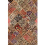 Image of Hand-Knotted Patchwork Rug - 6'2'' X 9'3''
