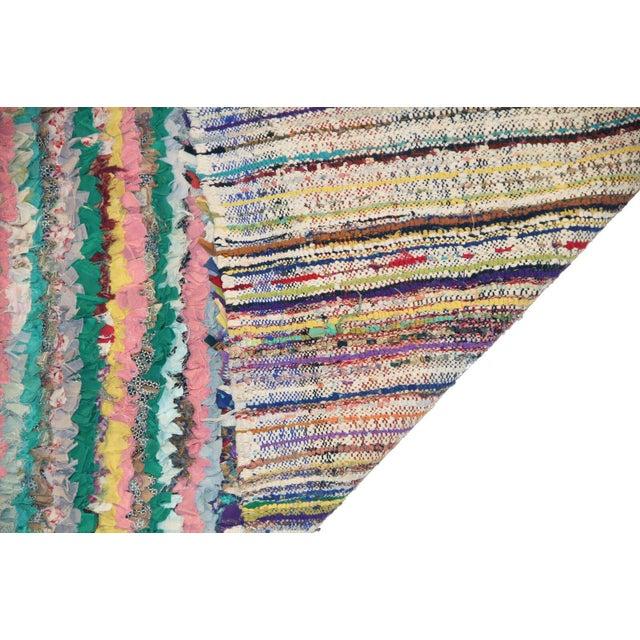 Vintage Boucherouite Rag Rug - 2′8″ × 6′ - Image 3 of 3