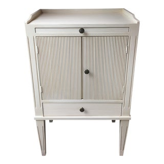 Swedish Nightstand With Pull-Out Desk