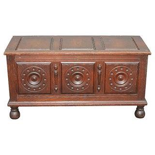 Antique Carved Paneled Cedar Chest