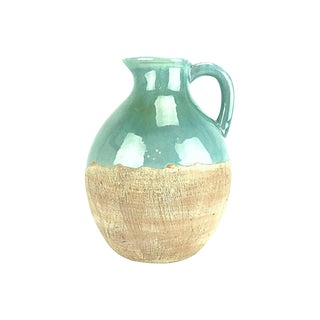 Aqua Glaze Ceramic Pitcher