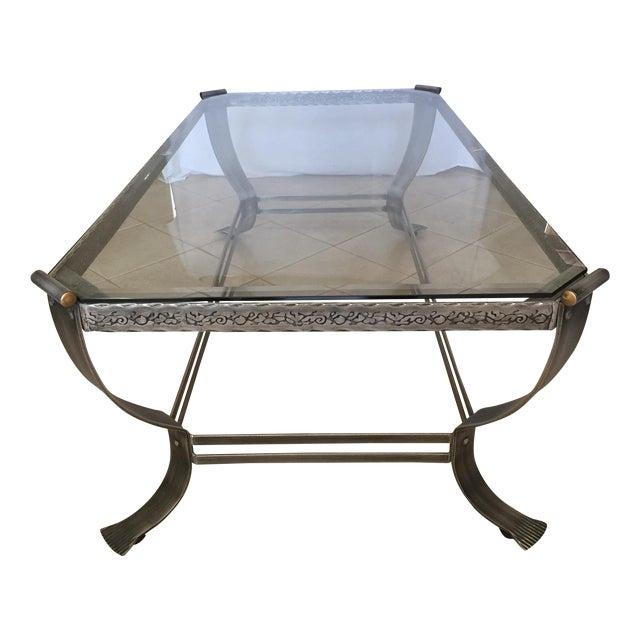 Glass Top Steel Base Coffee Table Chairish