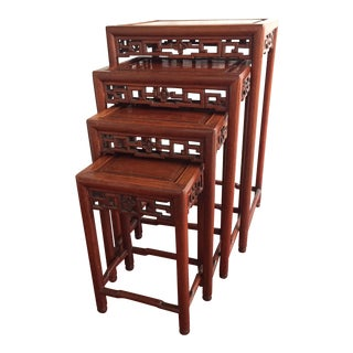 Chinese Rosewood Nesting Tables - Set of 4