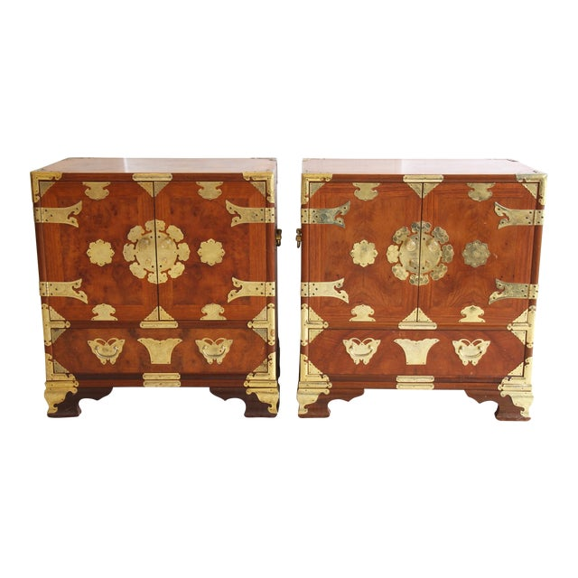 Asian-Style Butterfly Chests - Pair - Image 1 of 8