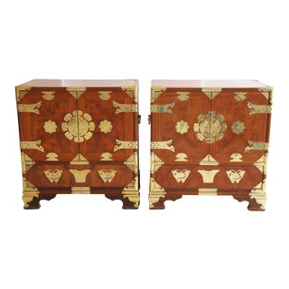 Asian-Style Butterfly Chests - Pair