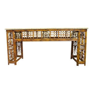 Maitland Smith Chippendale Style Console