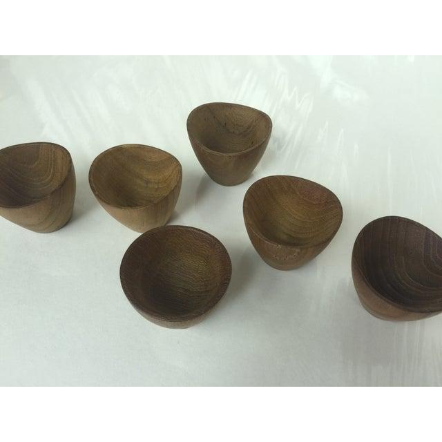 Ernst Henriksen Tiny Danish Teak Bowls - Set of 6 - Image 10 of 11