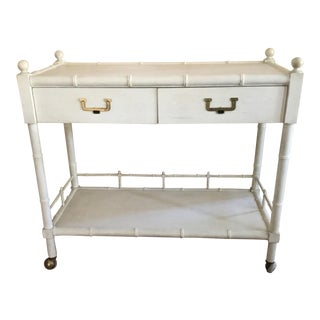 John Widdicomb Faux Bamboo Bar Cart Server