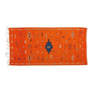 Orange Atlas Berber Rug - 3′1″ × 6′3″