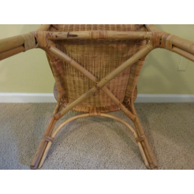 Vintage Rattan & Bamboo Chair - Image 5 of 8