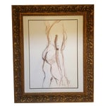 Image of Nude Male Side View Drawing