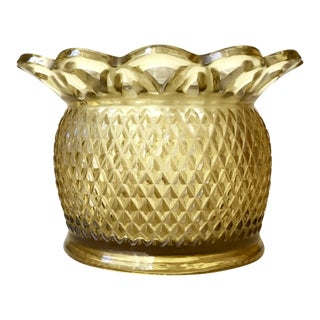 Amber Flower Frog Open Lace Diamond Glass Vase/Bowl