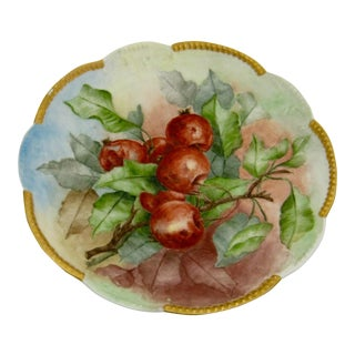 1904 Antique Hand Painted Limoges Cherry Plate