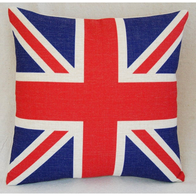 Image of British Union Jack Linen Down/Feather Pillow