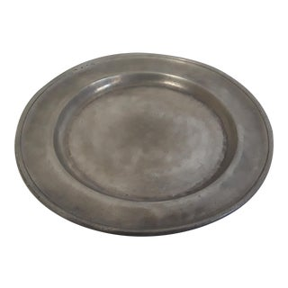 French Style Pewter Plate