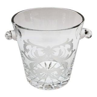 Steuben Style Handled Crystal Ice Bucket