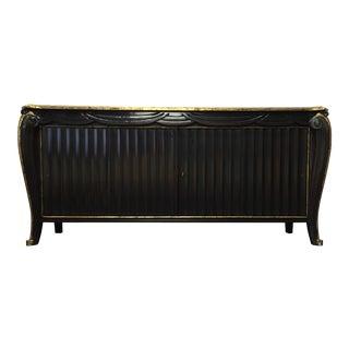 Art Deco Style Black Lacquer Credenza