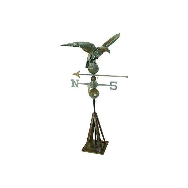 Vintage Copper Eagle Weathervane with Stand - Image 1 of 7