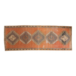 "Vintage Distressed Oushak Rug Runner - 4'2"" x 11'4"""