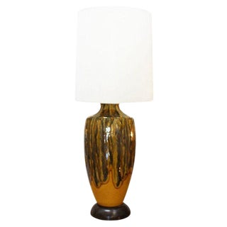 Vintage Orange Drip Glaze Lamp