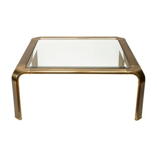 Brass Coffee Table Attributed to John Widdicomb