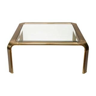 Brass Coffee Table Attributed to John Widdicomb