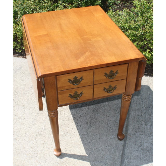 Vintage Queen Anne Style Drop Leaf Side Table - Image 2 of 5