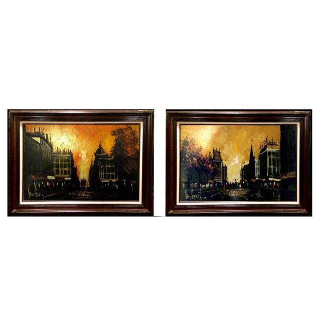 Image of Van Gaard, Paris Street Scene Oil Paintings - 2