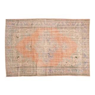 "Vintage Oushak Carpet - 6'2"" x 9'1"""