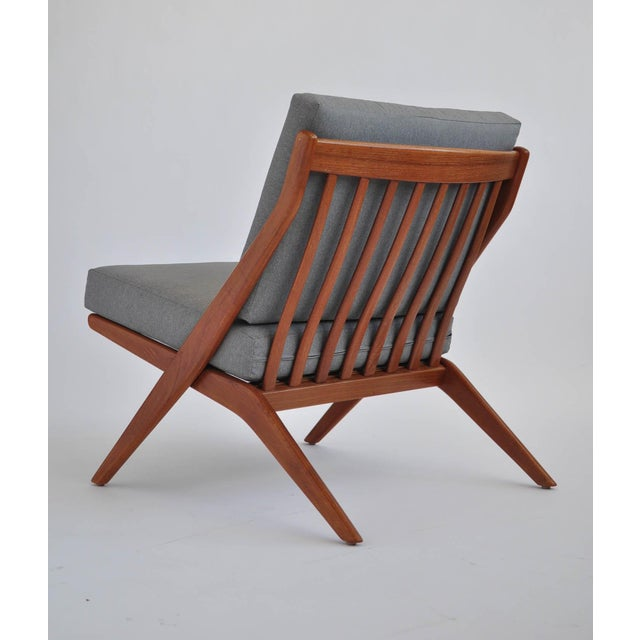Folk Ohlsson Scandinavian Scissor Lounge Chairs - Image 4 of 10